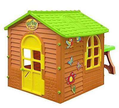 Mochtoys 11045 - Spielhaus Kinderhaus Kinderspielhaus Gartenhaus mit Gartentisch