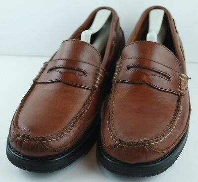Caleres Brown Shoe Bootmakers Aspen Moccasins Brown Leather Shoes Size 11M