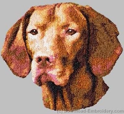 Large Embroidered Zippered Tote - Vizsla DLE2535