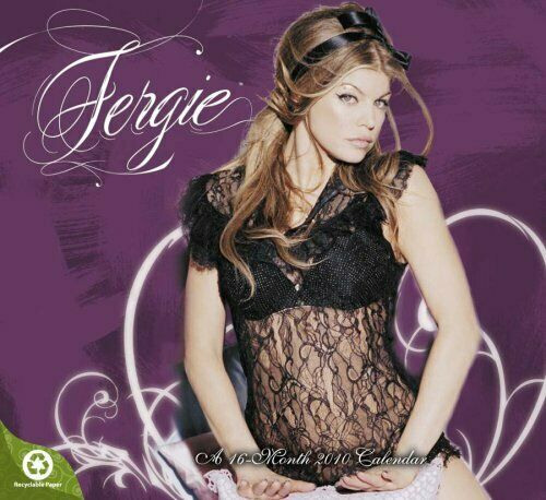 Fergie 2010 Wall Calendar Black Eyed Peas Singer