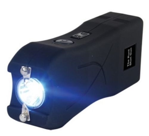 Купить Police BLACK RUNT 4.5 Mamp STUN GUN w/ LED Flashlight & Disable Pin taser case