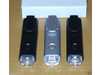 3 USB RECHARGEABLE SUPER BRIGHT WHITE LED TORCHES HIGH POWER FLASHLIGHT BELTCLIP