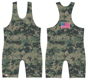 Digital-MARPAT-Camo-sublimated-wrestling-singlet-by-4-Time-All-sizes