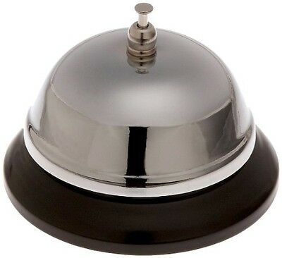 - Adcraft CBEL Nickel Plated Steel Call Bell with Heavy Plastic Base