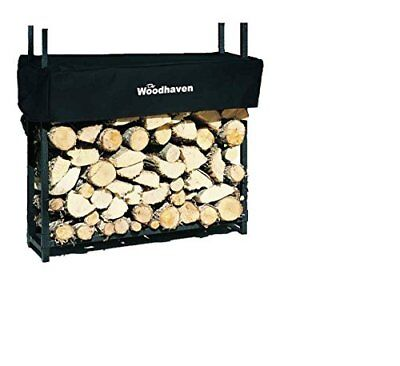 Firewood Log Rack w Cover Unique Design Strong Stainless Steel Design Log Rack Cover