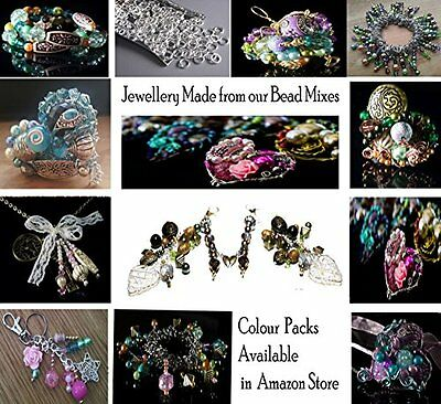 Approx Beads & Bead Assortments 1200 Jewelry Making Beads Mix Starter Kit For In