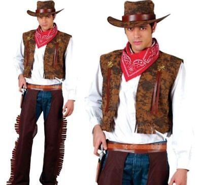 Western Cowboy Erwachsene Wilder Party Herren Verkleidung Kostüm Neuen Indischen