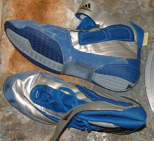Adidas blue wrestling shoes us 15 uk 14.5  hard to find