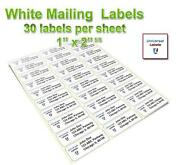 1 x 2 5 8 labels ebay