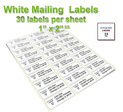Avery 5160 labels ebay for Universal laser printer labels template