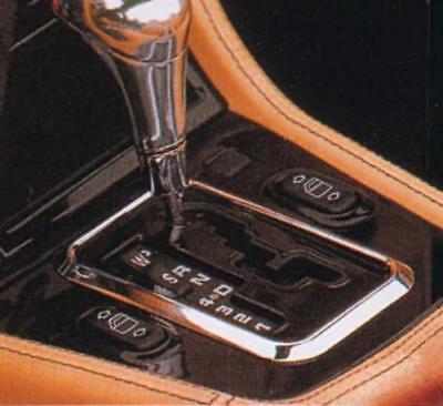 Chrom Schaltkulissen Rahmen für Mercedes R129 EDELSTAHL
