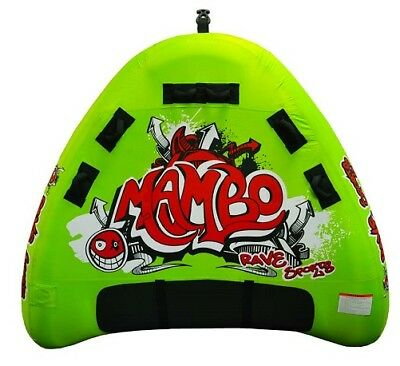 NEW Rave Sports 02463 Mambo Water Boat Towable Tube Ski Sled w/ (Rave Sports Mambo Towable)