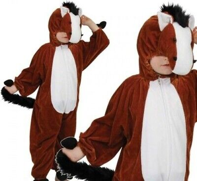 Pferd Kostüm Kinder Jungen Mädchen Bauernhof Tier Kostüm Größen 3-13 Jahre