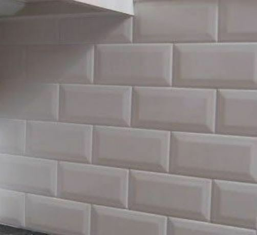 Wall Tiles Gloss White Bevel Subway Tile 200x100mm Ebay