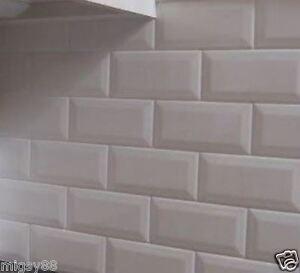 Wall Tiles -- Gloss White Bevel Subway Tile 200x100mm
