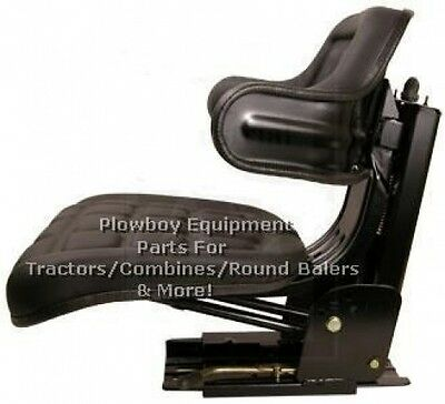 Universal Tractor Seat Suspension Black -metal For Massey Ferguson W222bl 300 Lb
