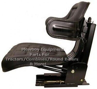 Universal Tractor Seat Suspension Black -metal For Massey Ferguson W222bl 300 Lb