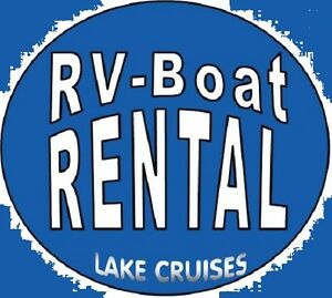 RV RENTALS *Experience Camping* Book now Patio Boat Cruise