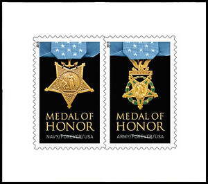 US 4823a Medal of Honor World War II forever margin pair set MNH 2013