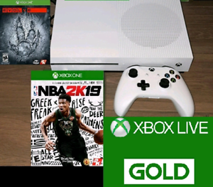 XBOX One S 1TB with 2 games and GOLD Trade for a PS4 Slim 1TB