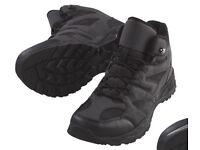 Mens boots size 10, lightweight, dark grey/black.