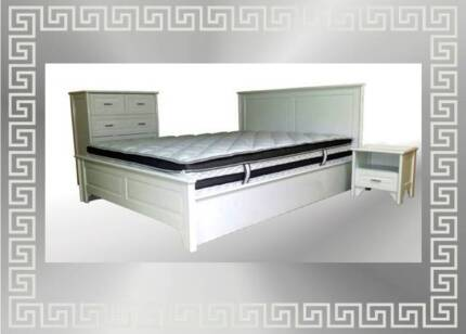 WHITE TIMBER BEDROOM SUITE - queen PAYMENT PLANS AVAILABLE Southport Gold Coast City Preview