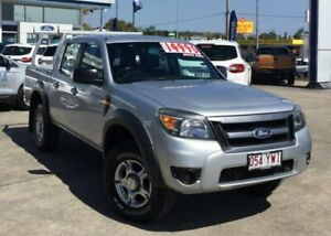 2010 Ford Ranger PK XL Crew Cab Silver 5 Speed Manual Utility Currimundi Caloundra Area Preview