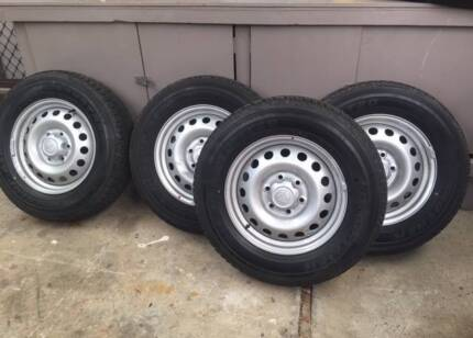 Toyota Hilux tyres and rims x 4