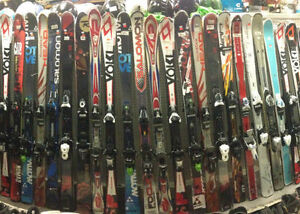 Downhill skis snowboards boots goggles equipment skiing new used
