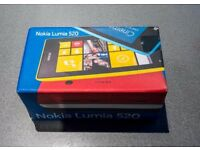 Nokia Lumia 520 mobile Phone - Brand new, in a sealed box