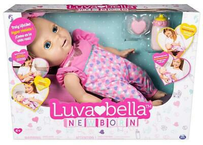 Luvabella Newborn doll interactive baby with real expressions blonde hair