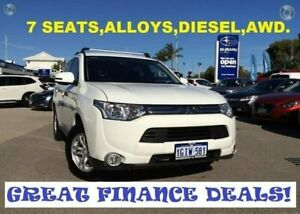 2013 Mitsubishi Outlander ZJ MY13 LS 4WD White 6 Speed Sports Automatic Wagon Greenfields Mandurah Area Preview
