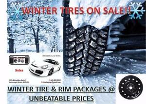 "BRAND NEW 195/65R15 WINTER TIRES & 15"" STEEL RIMS FOR $495.00 TAXES AND ALL FEES INCLUDED!!!!"