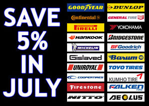 PRE-BOOKING SALE.  SAVE EXTRA 5% ANY BRAND ALL WINTER TIRES