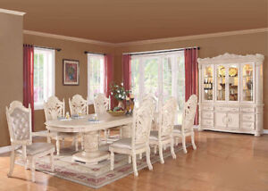 7PC SOLID WOOD DINING ROOM SET$2798