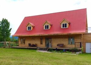 BEAUTIFUL LOG HOME WITH SHOP ON 10 ACRES