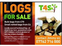 Bulk & Netted Bags of Seasoned Firewood Delivered