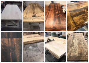 HARVEST TABLE'S /LIVE EDGE/CUSTOM FURNITURE/BARN BOARD