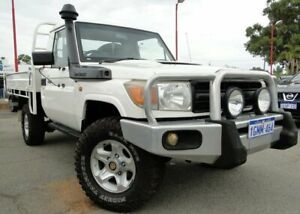 2010 Toyota Landcruiser VDJ79R MY10 Workmate White 5 Speed Manual Cab Chassis Bellevue Swan Area Preview