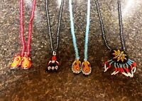 4 Gorgeous Hand Beaded Necklaces - Dreamcatcher, Moccasins.....