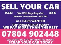 Ò78Ò4 9Ò2448 CARS VANS BIKES WANTED FAST CASH SELL YOUR BUY MY SCRAP