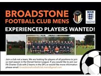 Broadstone Football Club Men's looking for players