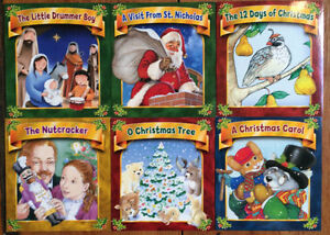 Set of 6 BRAND NEW CHRISTMAS BOOKS $10