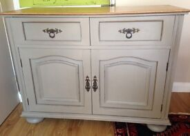 Attractive small sideboard sturdy built in solid oak
