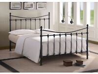 BLACK VICTORIAN STYLE KING SIZE BED FRAME NEVER ASSEMBLED