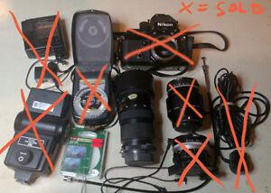 Vivitar 75-205 Macro Lens/3.8 + Camera Accesories