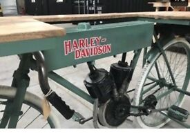 Harley Davidson replica bike table