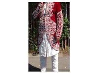 Mens asian wedding party suit