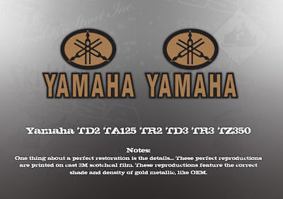 YAMAHA TD2 TA125 TR2 TD3 TR3 TZ350 DECAL GRAPHIC