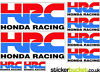 HRC Honda Racing Corporation Stickers (BSH005) Norton Canes, Cannock